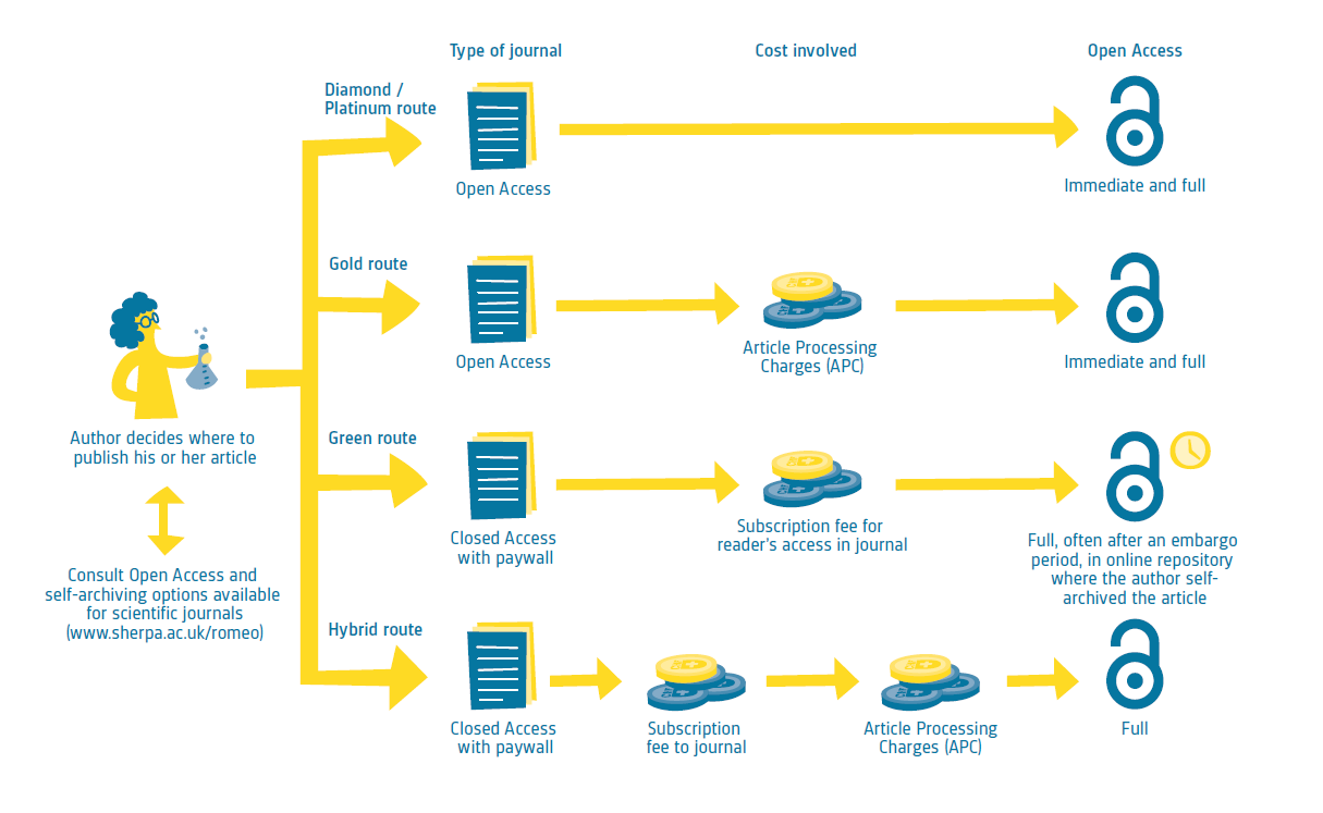 open access workflow abbildung
